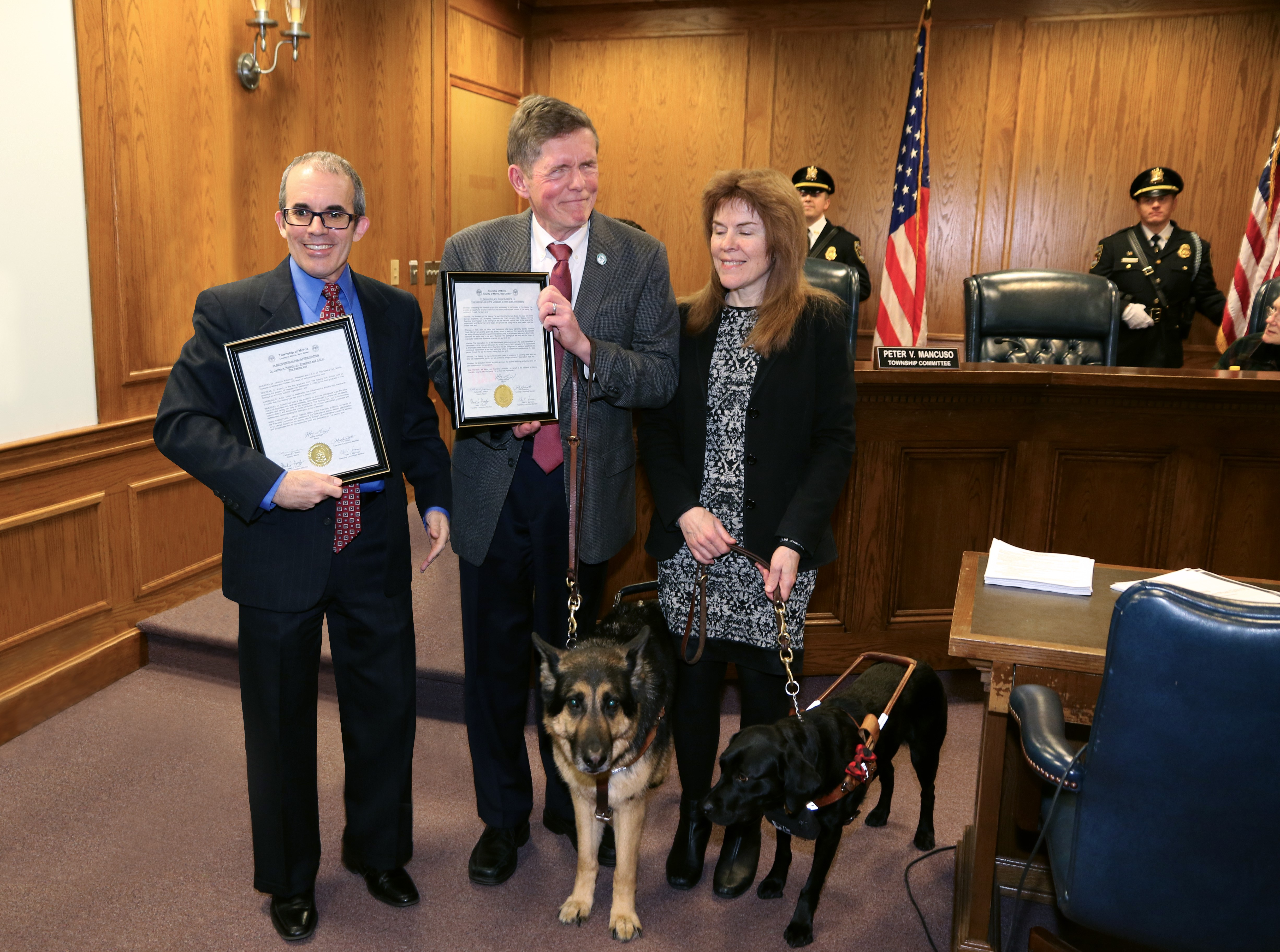 Morris Twp Mayor with Jim and Ginger Kutsch